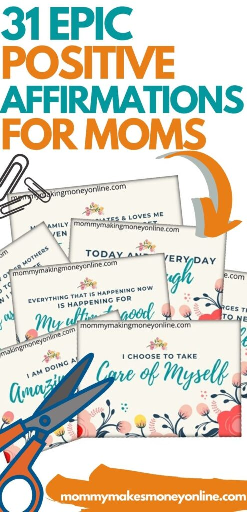 Are you looking for positive affirmations for moms? Then look no further. We have a list of over 31 Daily affirmations for moms that work! The words we speak are so powerful that they will come to pass! #positiveaffirmations #momaffirmations