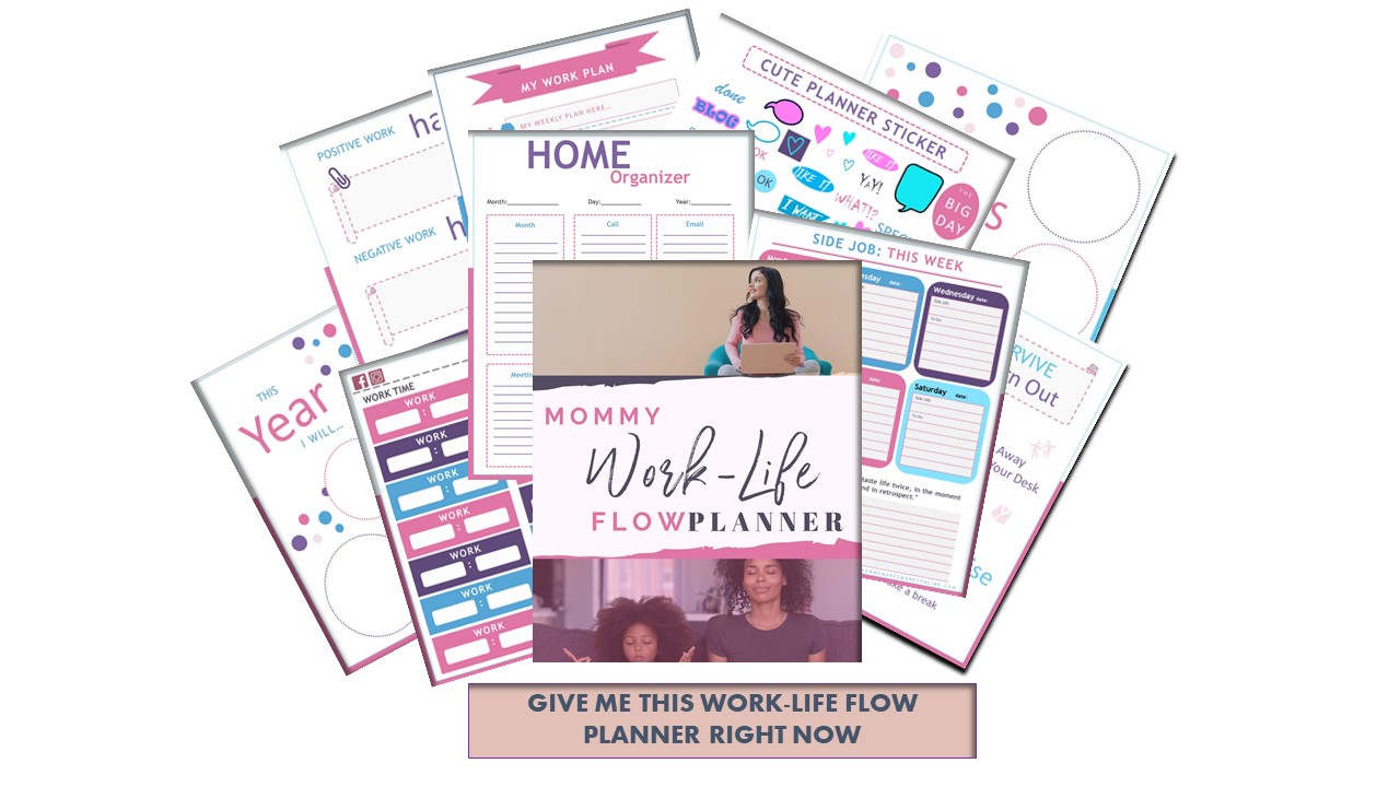 Work-Life Planner for Busy Moms