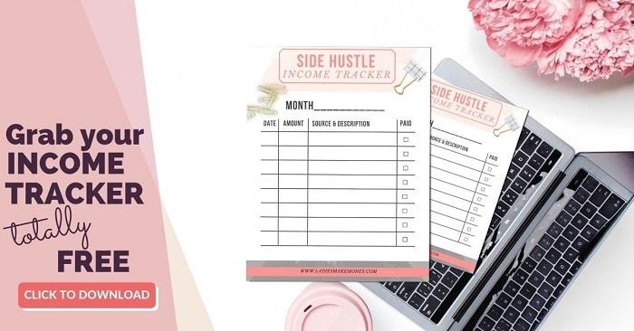 Free side hustle income tracker
