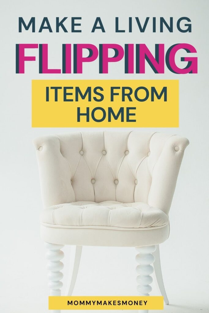 Flea market flipping: How to make money flipping items for profit. Learn how you find hidden treasures at flea markets, thrift stores, and yard sales. Then you can sell them on online platforms like ebay, Craigslist, or Facebook Marketplace. This can be a great way to make extra money one the side or turn into a full-time business. Click through to learn more. #sidehustle #makemoneyonline #mommymakemoneyonline