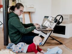 Here you'll find the ultimate list of productivity hacks for work-at-home moms by work-at-home moms in the trenches of beautiful work-at-home-motherhood!