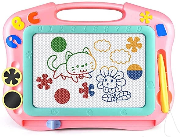 Magnetic doodle board perfect for toddlers traveling on a plane!